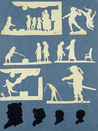 Various Scenes, David and Goliath and Four Profiles