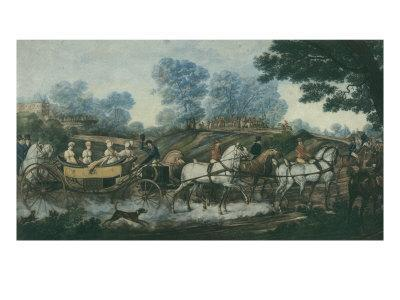 Hunt Meeting, engraved by Philibert Louis Debucourt