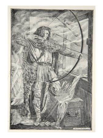 William continued his wonderful archery, from 'Hero Myths and Legends of the British Race' by M.I.