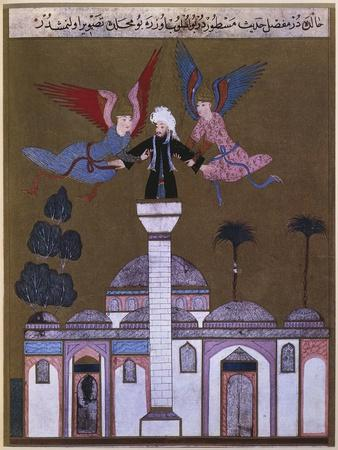 Jesus Christ Carried by Angels from Minaret of Mosque in Damascus, from 'Zubdet ut Tevarih'