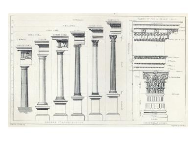 Architecture I: Orders of Architecture, engraved by Charles Lawrie