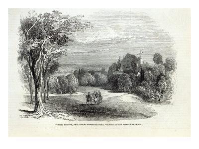 Schloss Rosenau, near Coburg, from 'The Illustrated London News', 30th August 1845