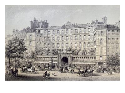 Boulevard Montmartre, Passage Jouffroy and Grand Hotel de la Terrasse Jouffroy, 1865