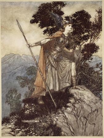 Brunnhilde, from 'The Rhinegold and the Valkyrie', 1910