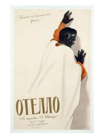 Poster Advertising a Production of 'Othello', 1956