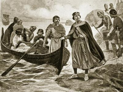 Ethelred the Unready Embarking for Normandy, Illustration 'Hutchinson's Story of British Nation'
