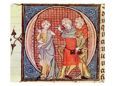 Expulsion of Emperor Otto IV, Deposed by Pope Innocent III, from Manuscript of Speculum Historiale