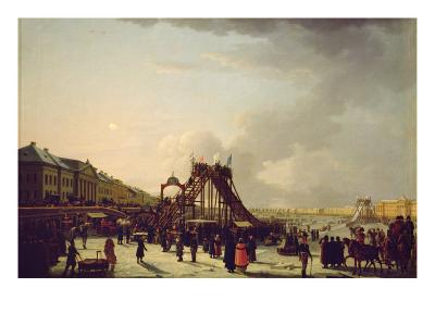 The Rollercoasters on the Neva in St. Petersburg, 1803