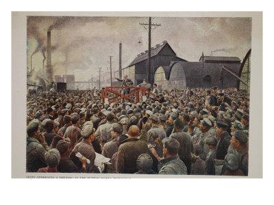 Lenin Addressing a Meeting at the Putilov Works, Petrograd, 1917
