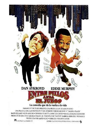 Trading Places, Spanish Movie Poster, 1983