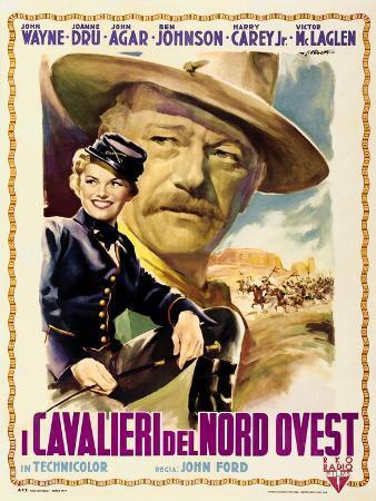 She Wore a Yellow Ribbon, Italian Movie Poster, 1949