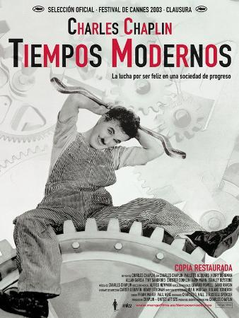 Modern Times, Spanish Movie Poster, 1936