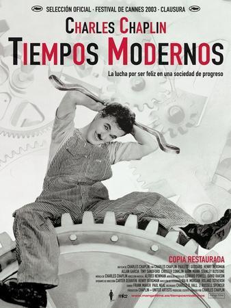 Modern Times, Spanish Movie Poster, 1936
