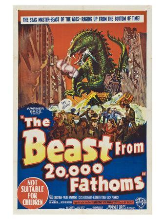 The Beast From 20,000 Fathoms, Australian Movie Poster, 1953