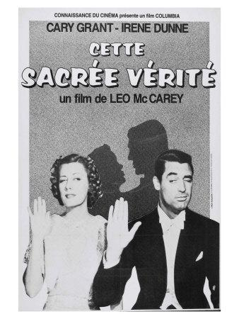 The Awful Truth, French Movie Poster, 1937