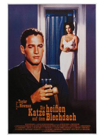 Cat on a Hot Tin Roof, German Movie Poster, 1958