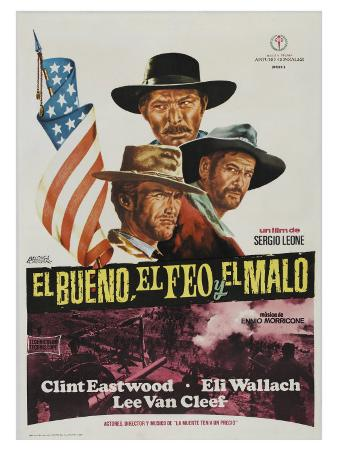 The Good, The Bad and The Ugly, Spanish Movie Poster, 1966