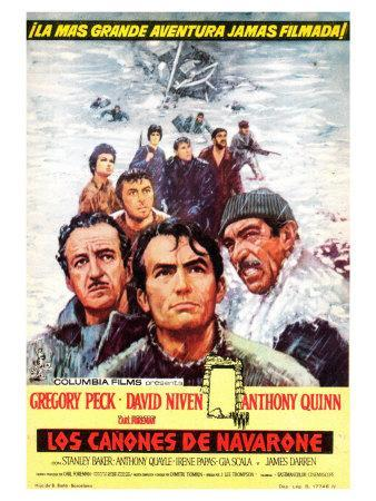 The Guns of Navarone, Spanish Movie Poster, 1961
