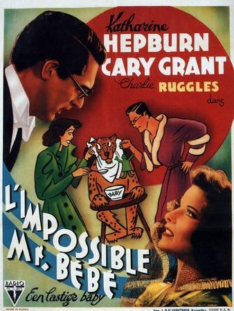 Bringing Up Baby, German Movie Poster, 1938