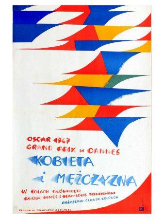 A Man and a Woman, Polish Movie Poster, 1966