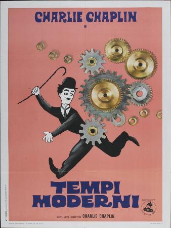Modern Times, Italian Movie Poster, 1936