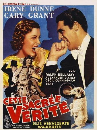 The Awful Truth, Belgian Movie Poster, 1937