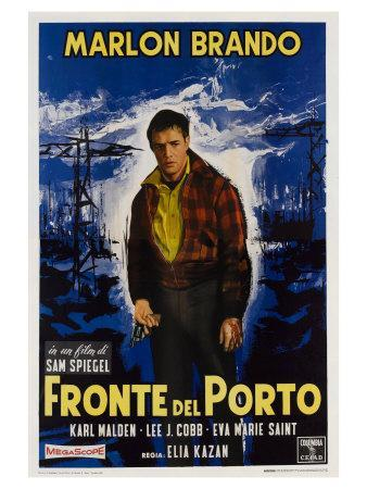 On the Waterfront, Italian Movie Poster, 1954
