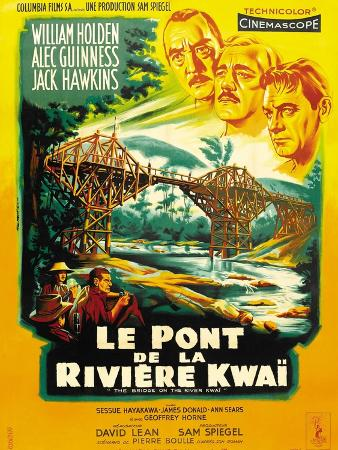 Bridge on the River Kwai, French Movie Poster, 1958