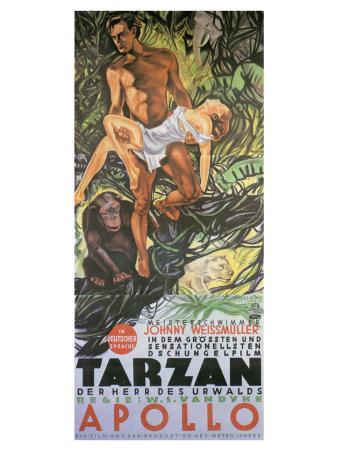 Tarzan The Ape Man, German Movie Poster, 1932