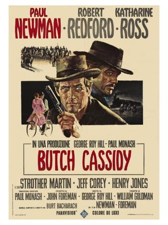 Butch Cassidy and the Sundance Kid, Italian Movie Poster, 1969