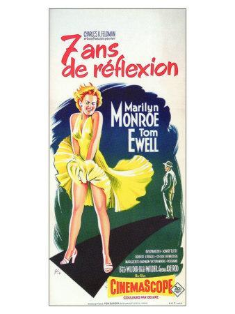 The Seven Year Itch, French Movie Poster, 1955