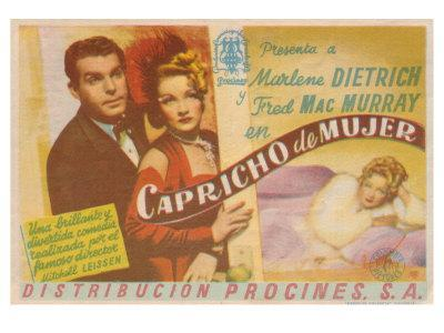 The Lady Is Willing, Spanish Movie Poster, 1942