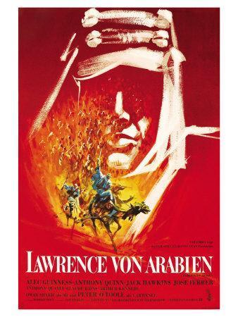 Lawrence of Arabia, German Movie Poster, 1963