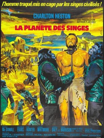 Planet of the Apes, French Movie Poster, 1968