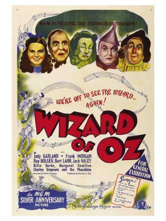 The Wizard of Oz, Australian Movie Poster, 1939