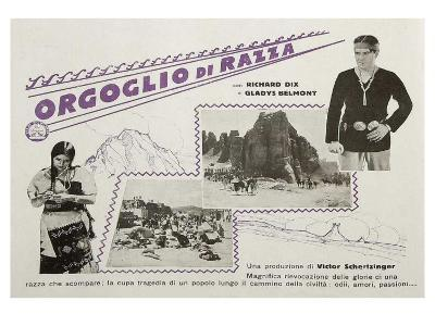 Redskin, Italian Movie Poster, 1929