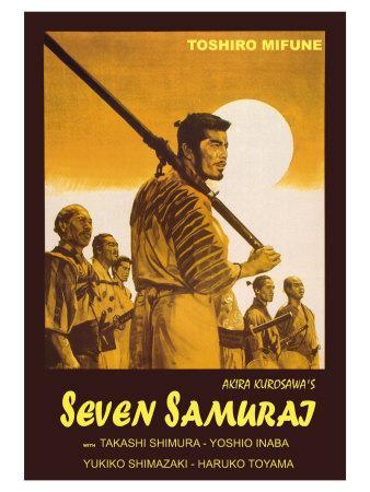 Seven Samurai, Italian Movie Poster, 1954
