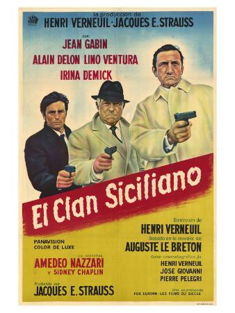 The Sicilian Clan, Argentine Movie Poster, 1970