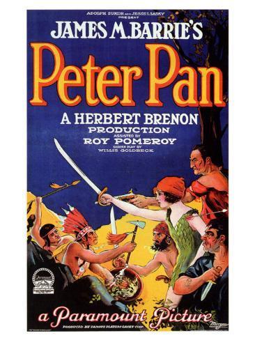 POSTCARD PETER PAN FILM FRAME