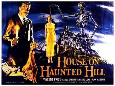 House On Haunted Hill, UK Movie Poster, 1958