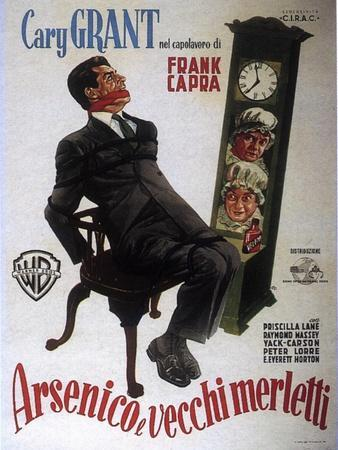 Arsenic and Old Lace, Italian Movie Poster, 1944