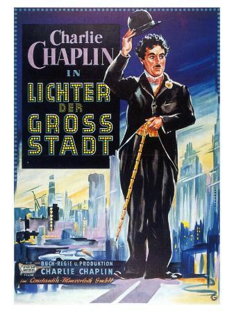 City Lights, German Movie Poster, 1931