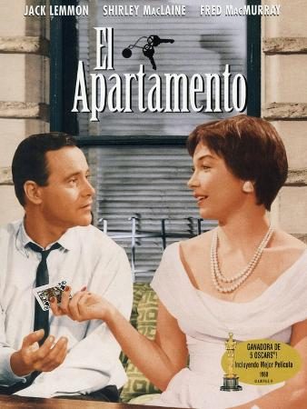 The Apartment, Spanish Movie Poster, 1960