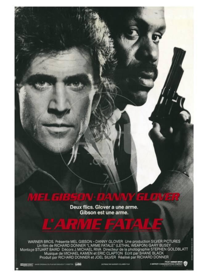 Lethal Weapon, French Movie Poster, 1987