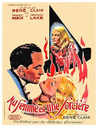 I Married a Witch, French Movie Poster, 1942