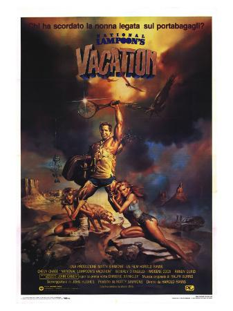 National Lampoon's Vacation, Italian Movie Poster, 1983