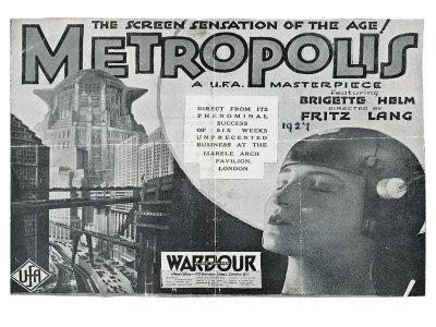Metropolis, UK Movie Poster, 1926