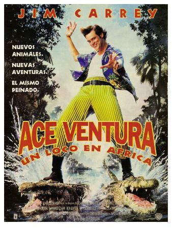 Ace Ventura: When Nature Calls, Argentine Movie Poster, 1995