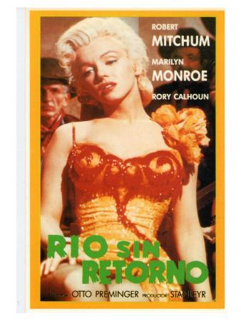 River of No Return, Spanish Movie Poster, 1954