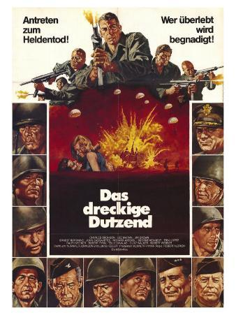 The Dirty Dozen, German Movie Poster, 1967